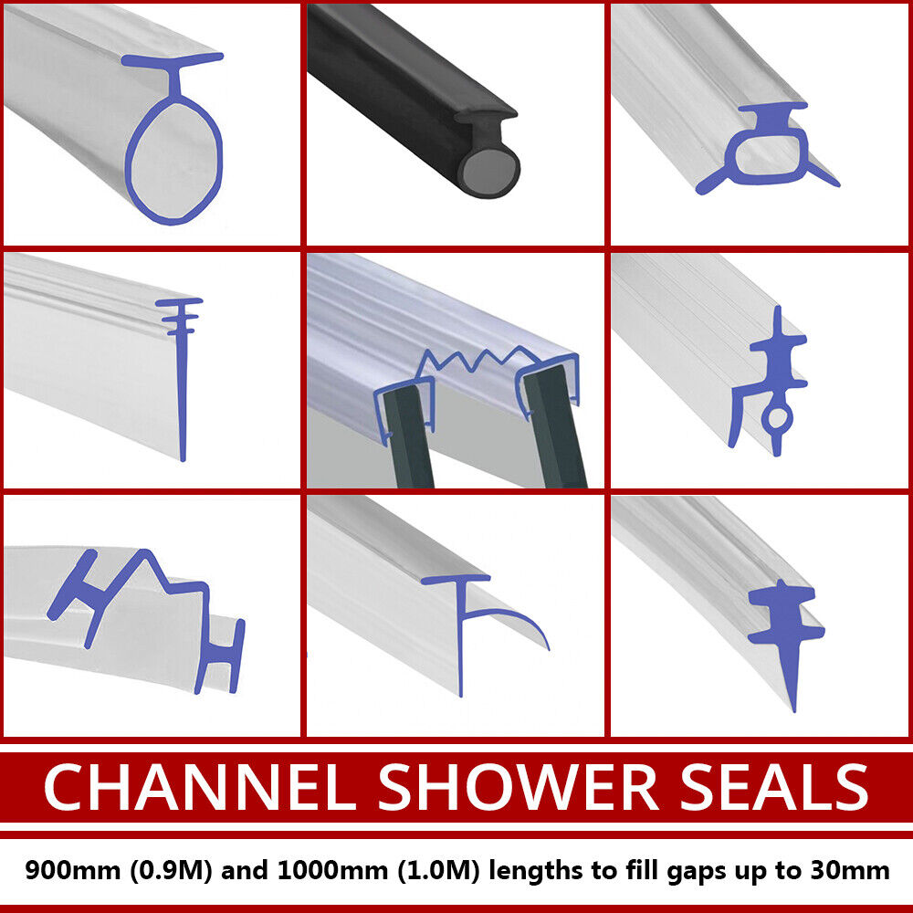 Shower Seal For Bi Fold Channel Profile Folding Glass Door