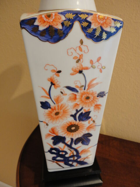 Vintage Asian Oriental Style Hand Painted Floral