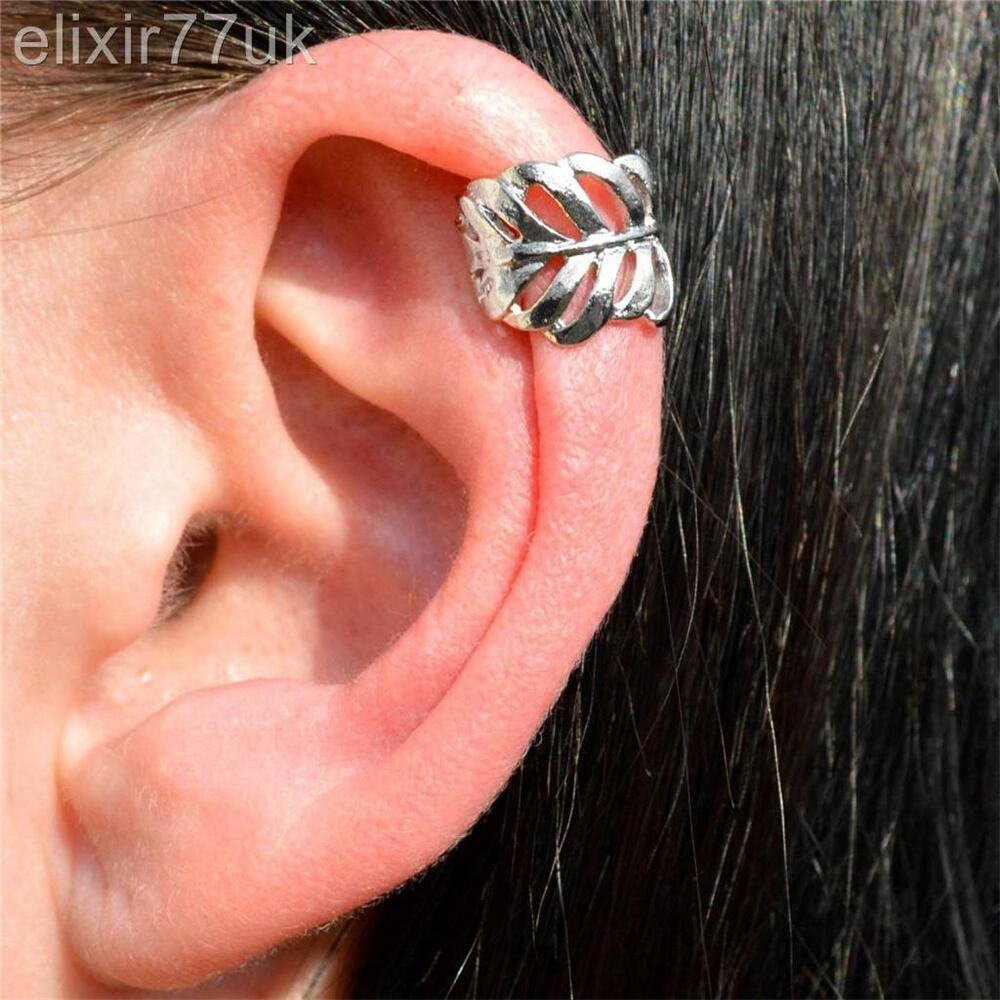 helix cuff earrings new vintage silver leaf ear cuff helix cartilage 2060