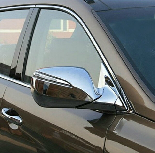 Chrome Door Side Rear View Mirror Garnish Cover For