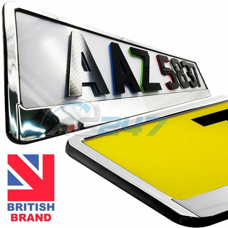 Car Number License Registration Plate Black Trim Surround