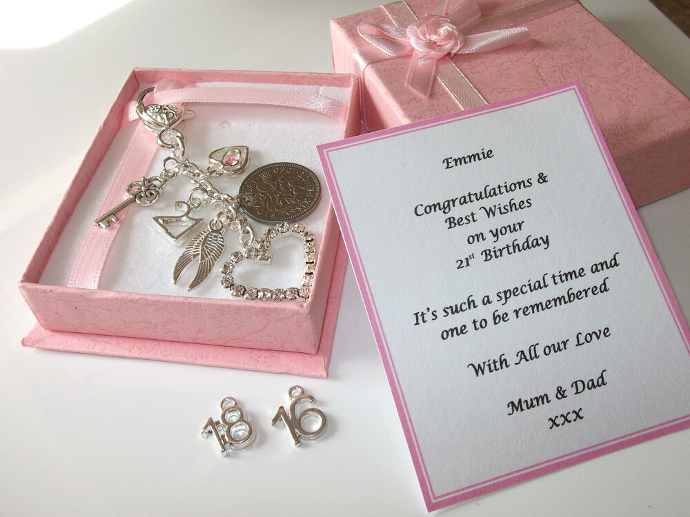 18th, 21st, 16th Silver Personalised Girls Birthday Gift