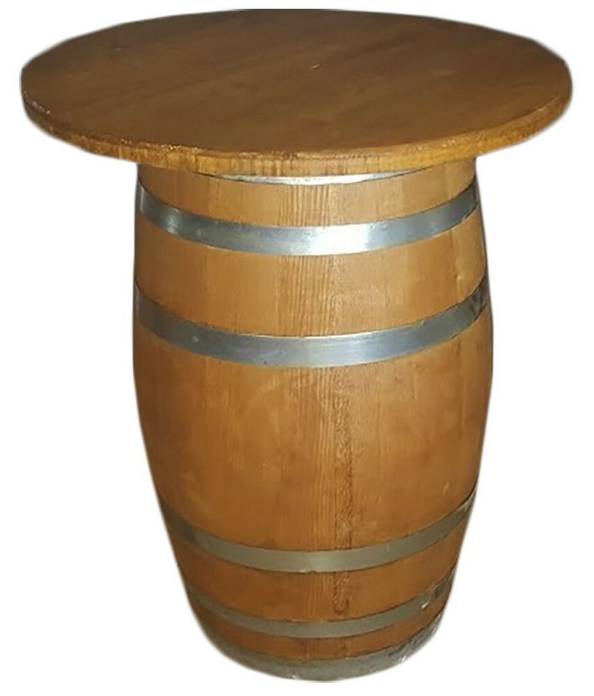 wooden barrel barrels table height 85 cm diameter table 70. Black Bedroom Furniture Sets. Home Design Ideas