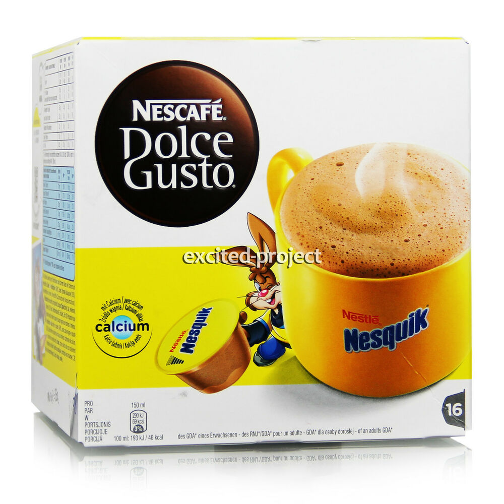 nescafe dolce gusto nestle nesquik capsules hot. Black Bedroom Furniture Sets. Home Design Ideas