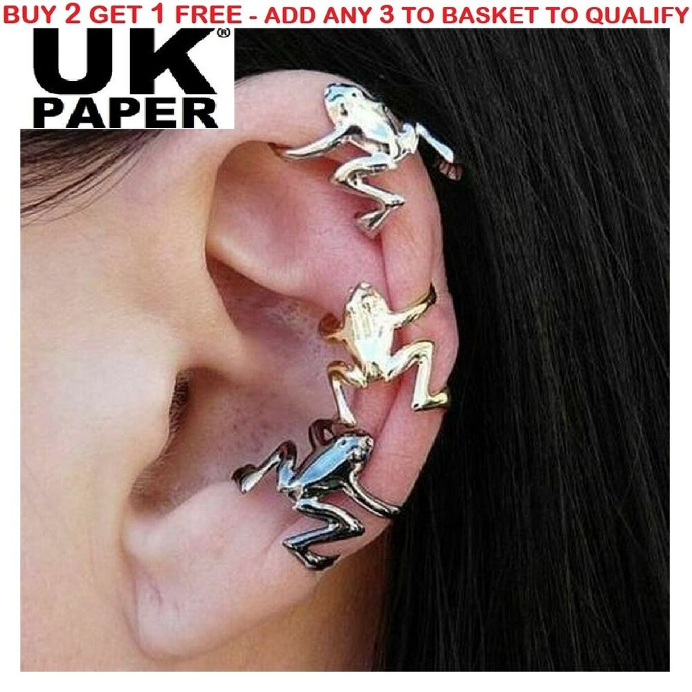 uk hopping frog cartilage helix ear cuff clip on