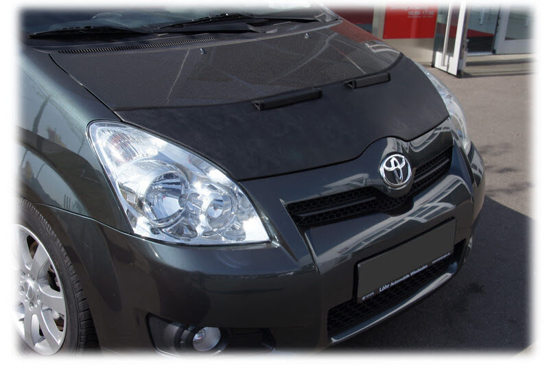 toyota corolla verso 2004 2009 bonnet bra stoneguard protector ebay. Black Bedroom Furniture Sets. Home Design Ideas