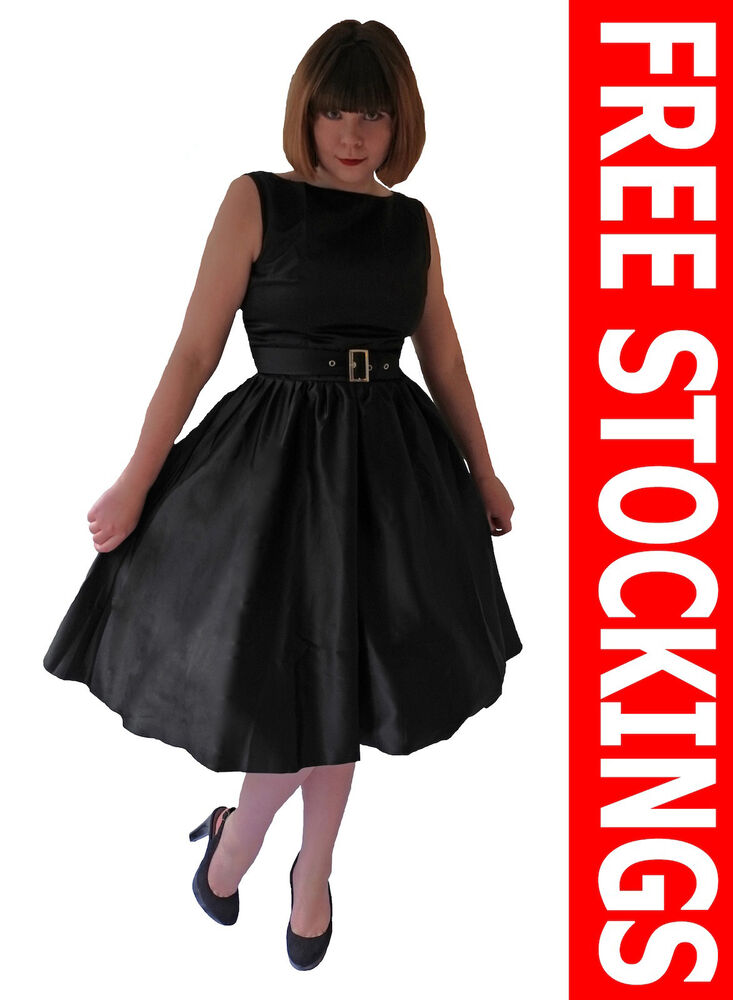 Vintage 1950 S 1960 S Black Prom Evening Party Cocktail