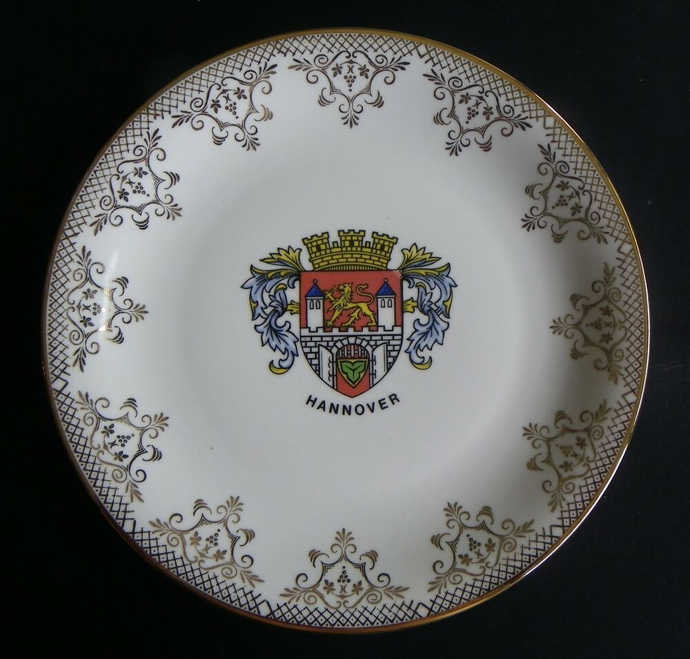 Schedel bavaria hannover shield souvenir ceramic plate for Hannover souvenirs