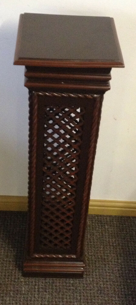 Statue telephone lamp plant stand column pillar display wooden plinth pedestals ebay - Column pedestal plant stand ...