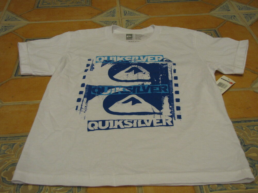 Boy 39 S Youth Quiksilver Surf Skate T Shirt Large Kids