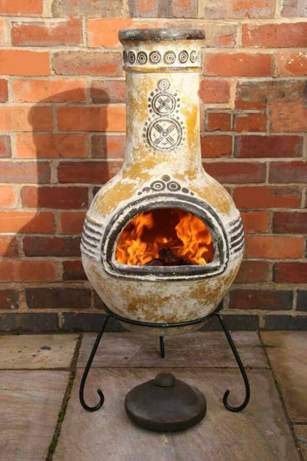 Mexican Clay Chimenea Mayan Aztec Chiminea Patio Heater