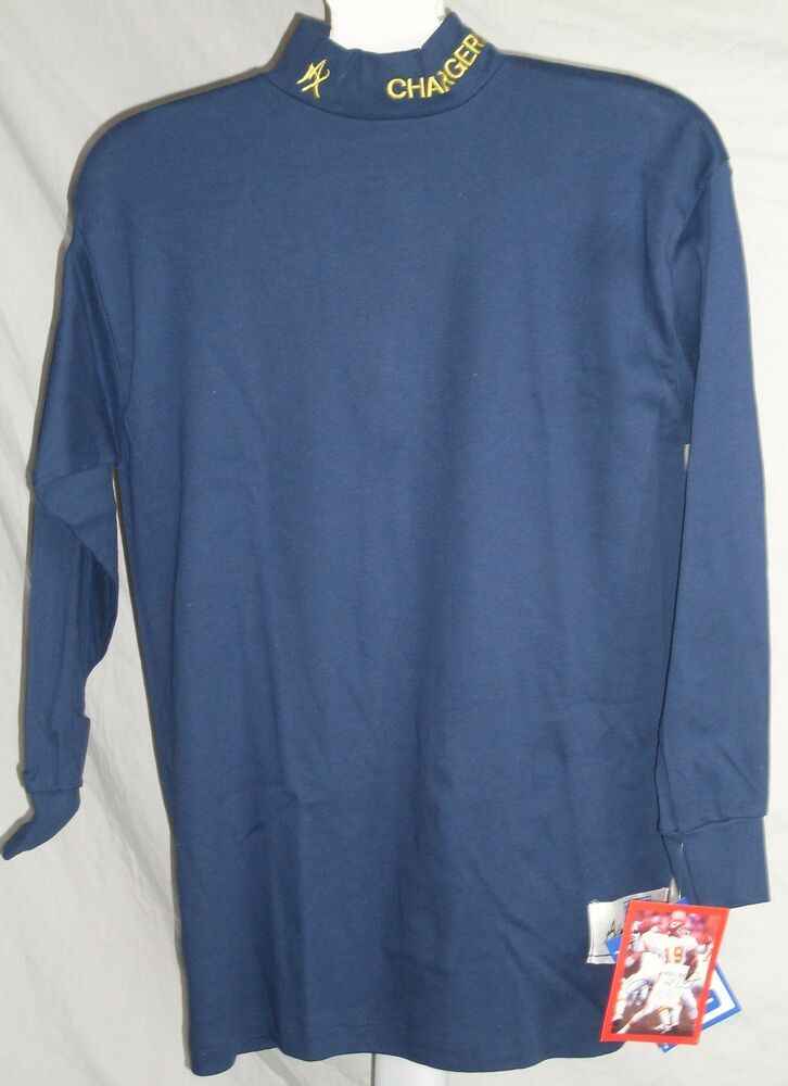 Nfl Maxit Turtleneck Shirt Los Angeles Chargers Blue Large