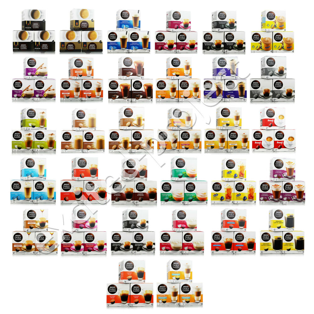 nescafe dolce gusto coffee drink pods capsules pick your flavor ebay. Black Bedroom Furniture Sets. Home Design Ideas