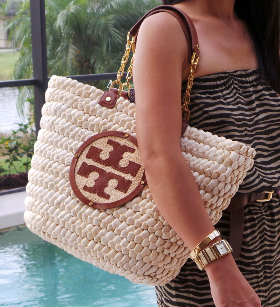 d64c2594e30 Details about Tory Burch AUDREY Straw Tote Bag