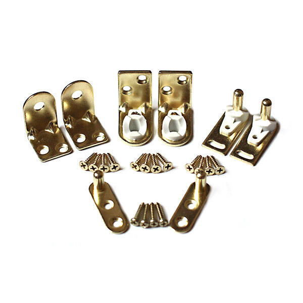 Saloon Door Hinges : Saloon door hinge set brass finish gravity hinges for