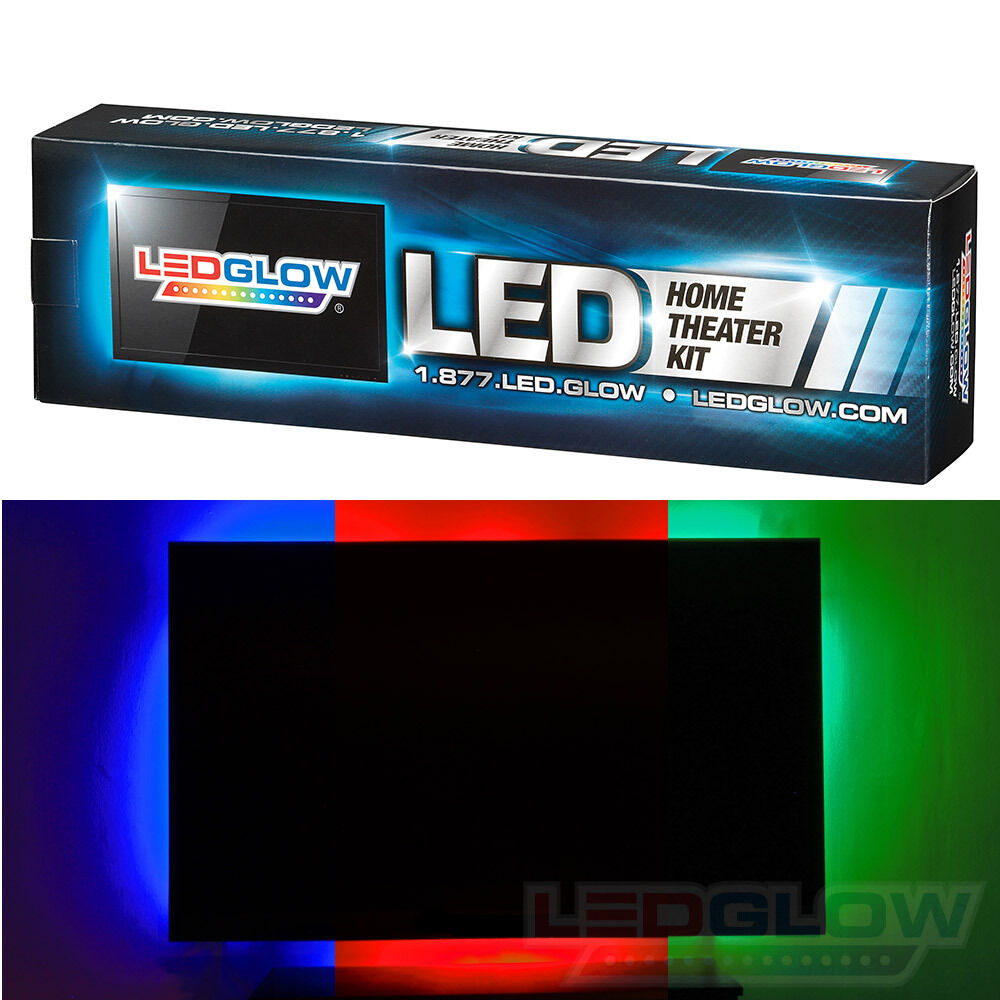 Home Theater Accent Lighting: LEDGLOW 4pc MILLION COLOR HOME THEATER LED AMBIENT ACCENT