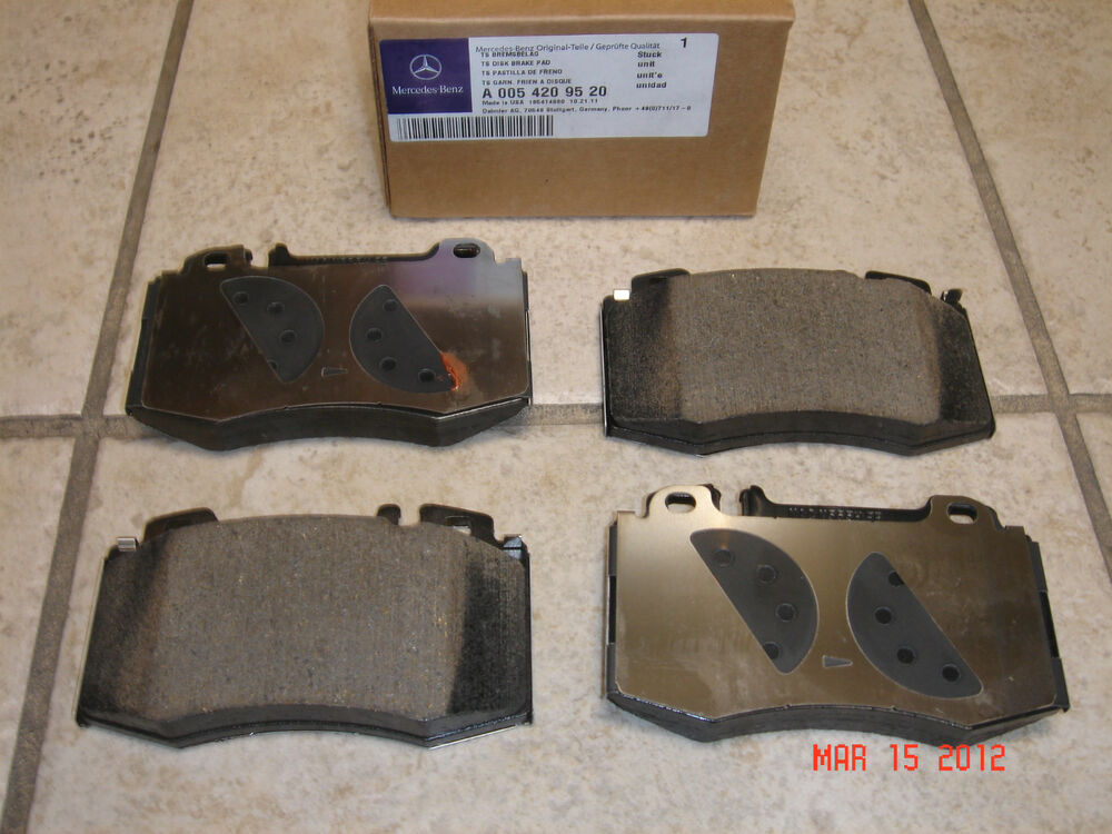 Mercedes w211 e class genuine front brake pad set pads for Brake pads mercedes benz