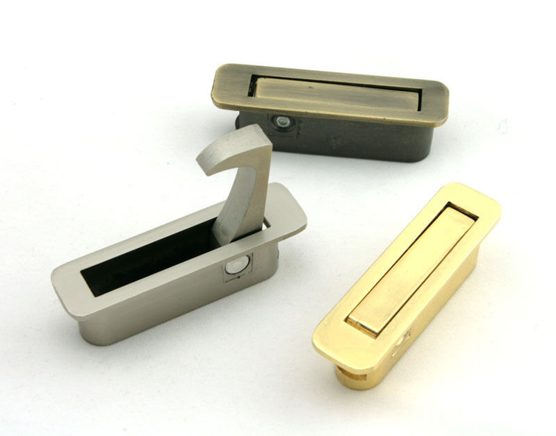 Hidden Folding Lever Flush Pull Drawer Pulls Cupboard