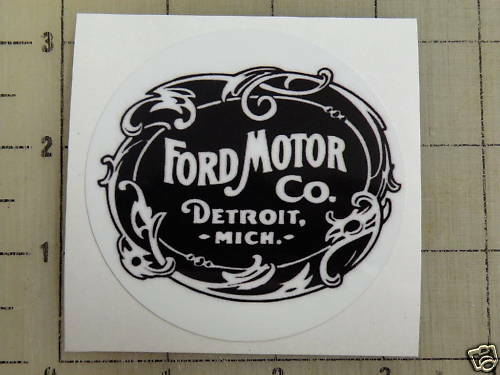 Old Ford Trucks Decals : Vintage ford motor co sticker decal quot diameter ebay