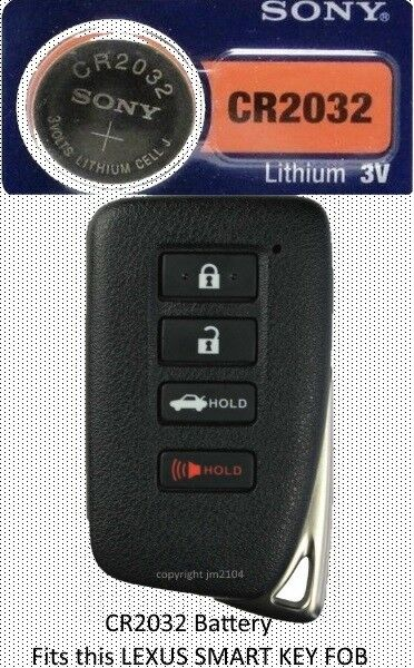 Smart Car Key Replacement >> LEXUS ES & GS Remote SMART Key Fob Replacement Battery ...