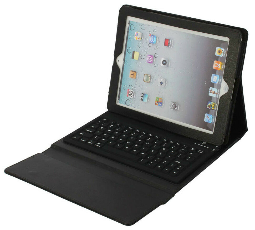 Wireless Keyboard Leather Black Case For Ipad 4 3rd A1416