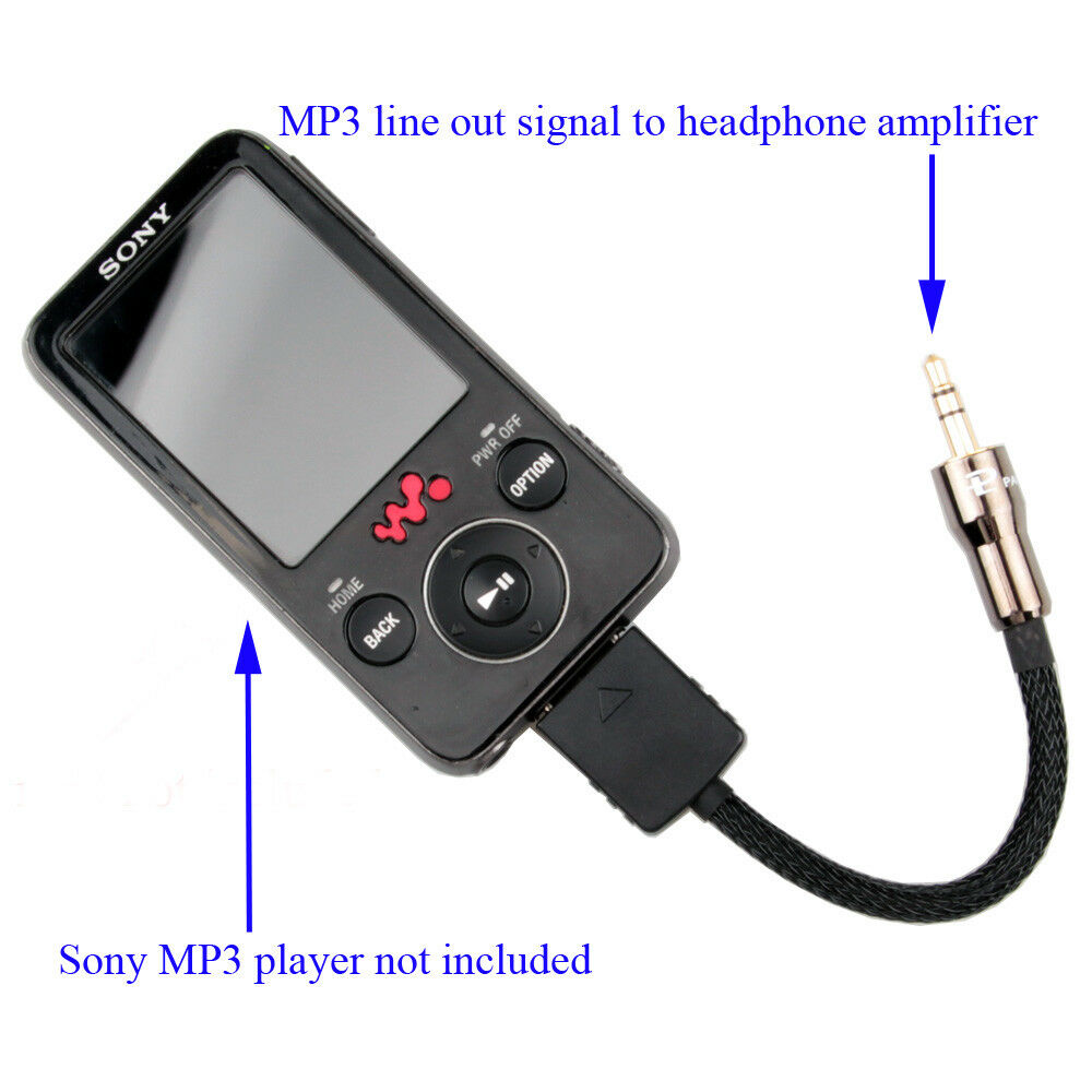 sony walkman mp3 player line out lod interconnect cable to headphone amplifier 614993479097 ebay. Black Bedroom Furniture Sets. Home Design Ideas