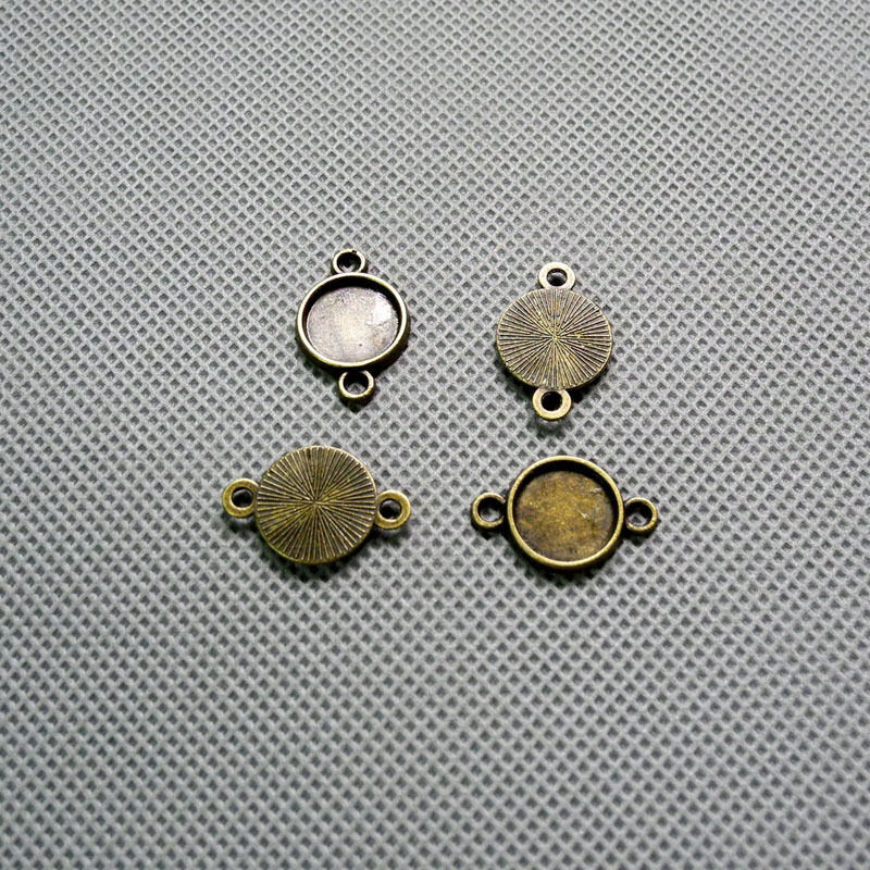 4x jewelry making supplies vintage necklace a1304 round for Earring supplies for jewelry making