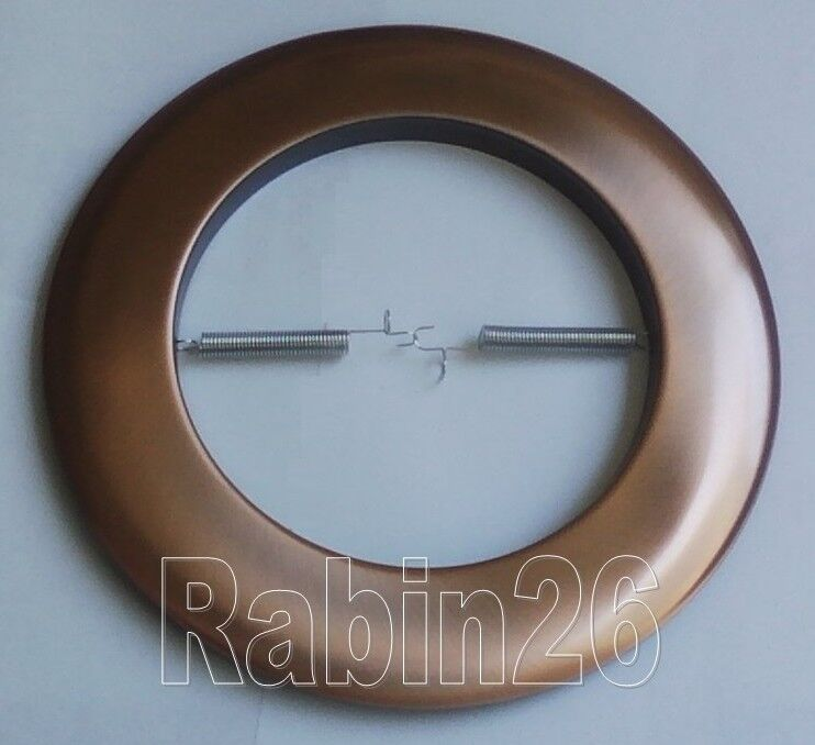 """6 Inch Par30 Adjustable Gimbal Ring Trim White Recessed: 6"""" INCH RECESSED CAN LIGHT COPPER OPEN TRIM METAL RING R40"""