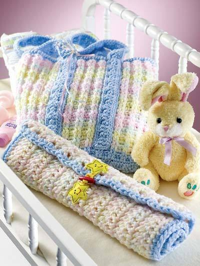 Crochet Baby Diaper Bag Patterns : baby changing bag and mat crochet pattern 99p eBay