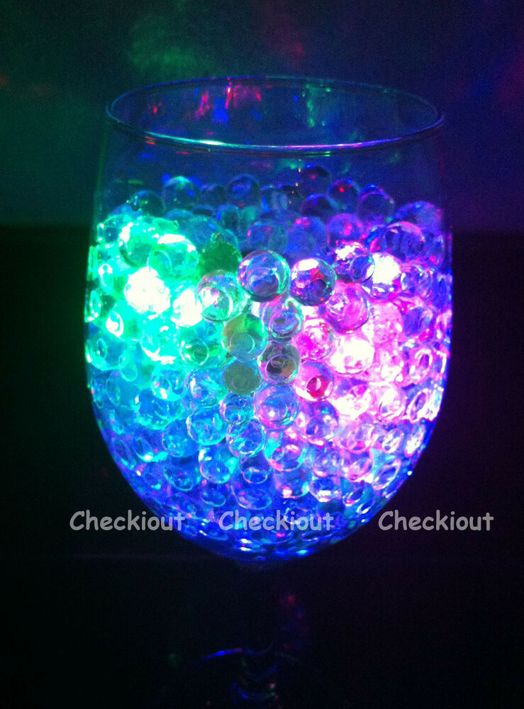 Water Pearl Bead Led Light Wedding Floral Decor