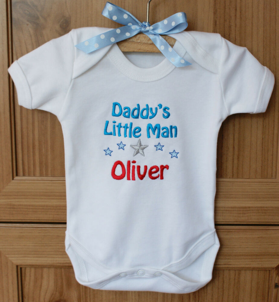 Personalised Baby Clothes Vest Body Suit Daddy S Little