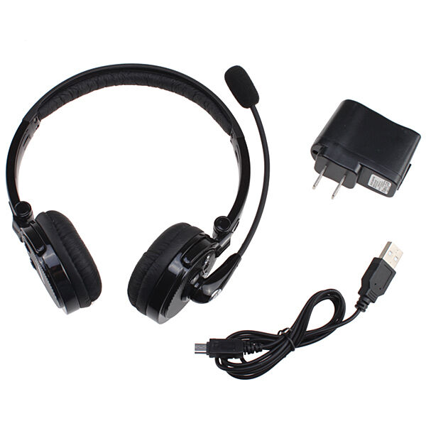 wireless bluetooth stereo headset headphone mic for cellphone iphone 6 5s ps3 pc ebay. Black Bedroom Furniture Sets. Home Design Ideas