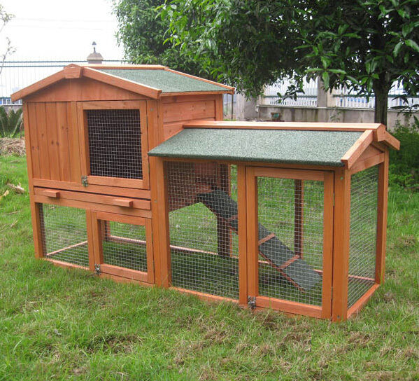 Rabbit guinea pig hutch hutches run runs bunny business for Free guinea pig hutch