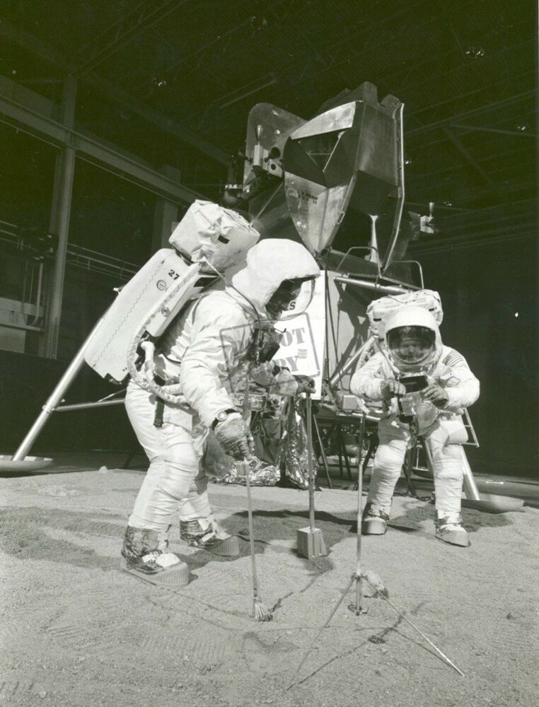 Apollo 11 Crew During Training Exercise Neil Armstrong ...