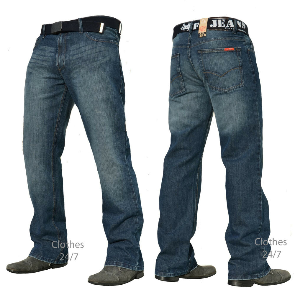 new mens dark blue denim jeans trousers size waist 30 32 34 36 38 40 42 44 46 48 ebay. Black Bedroom Furniture Sets. Home Design Ideas