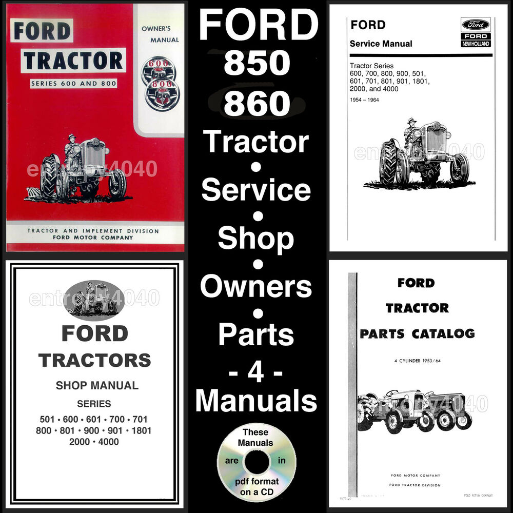 Ford 860 Tractor Parts Diagrams : Ford tractor service parts catalog owners manual