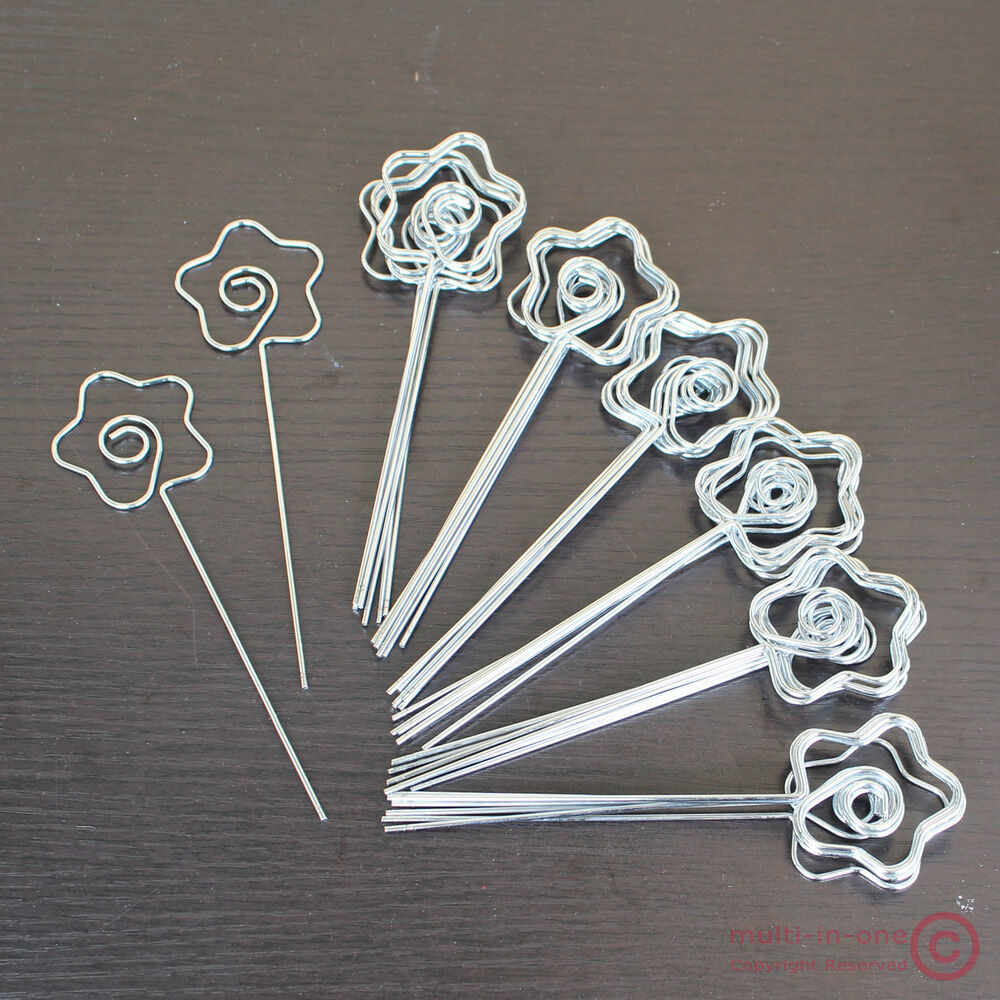 Lot 50pcs DIY Craft Rose Wire Photo&memo&place Card Holder