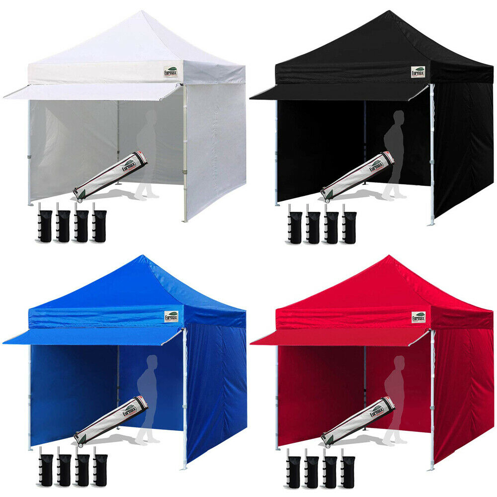 10x10 Commercial Instant Gazebo EZ PopUp CANOPY Outdoor Tent W
