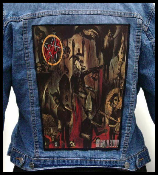 slayer reign in blood back jacket patch backpatch ebay. Black Bedroom Furniture Sets. Home Design Ideas