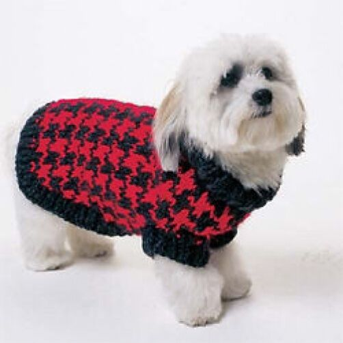 Dog Coat Knitting Pattern Uk : Dog sweater knitting pattern p ebay
