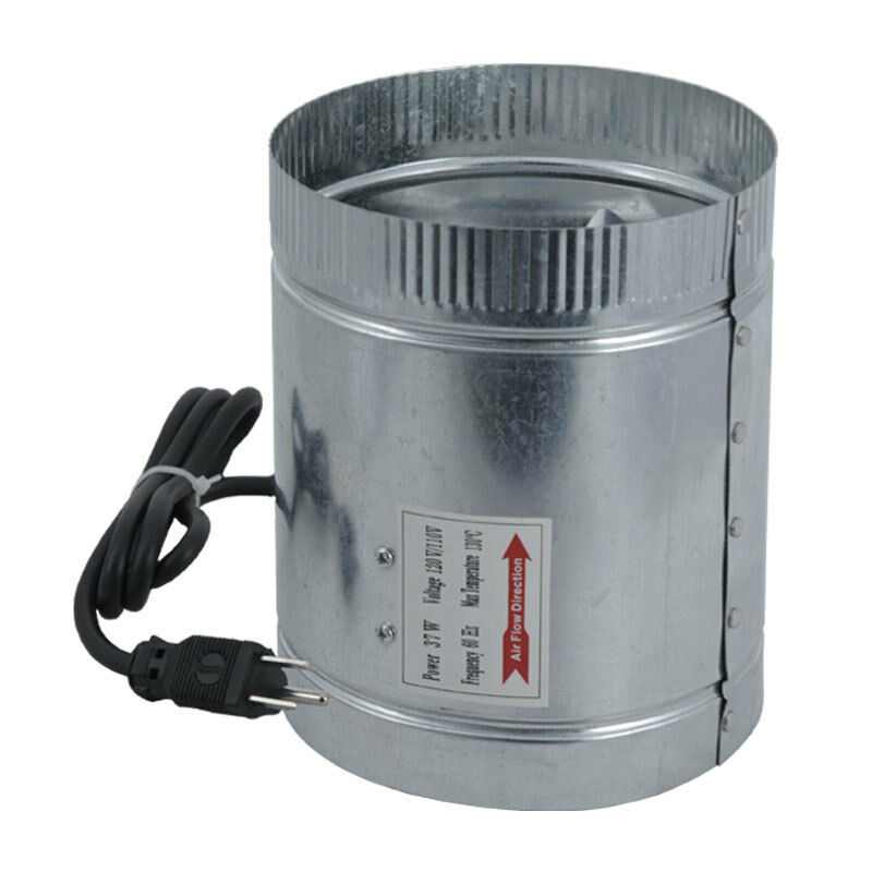 Heat Duct Booster Blower : Quot inch cfm duct fan booster inline cool air blower