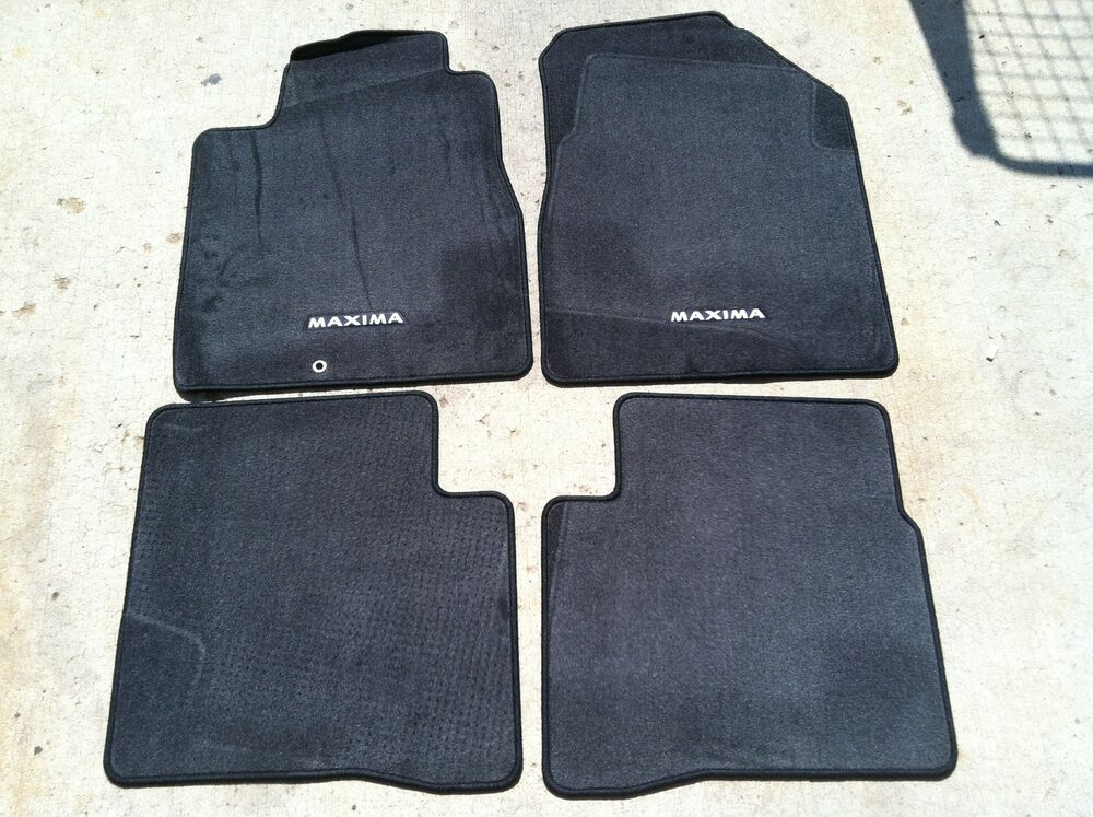 New Oem 2004 2008 Nissan Maxima Black Carpet 4 Pce Floor