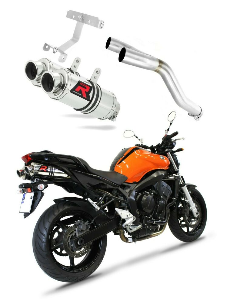 dominator exhaust round yamaha fz6 fazer 600 s2 2004 db. Black Bedroom Furniture Sets. Home Design Ideas