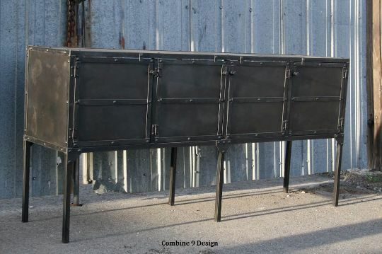 buffet hutch modern industrial mid century design media console rustic ebay. Black Bedroom Furniture Sets. Home Design Ideas
