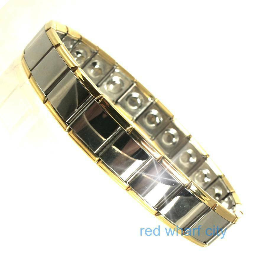 mens expanding stainless steel magnetic therapy bracelet arthritis pain relief ebay. Black Bedroom Furniture Sets. Home Design Ideas