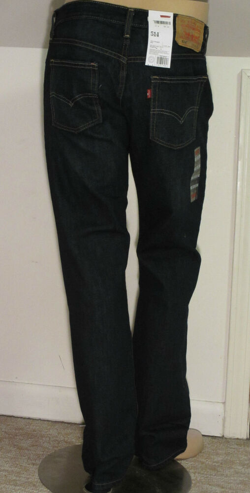 LEVIS 514 SLIM STRAIGHT MEN JEANS KALE 005140308 | eBay