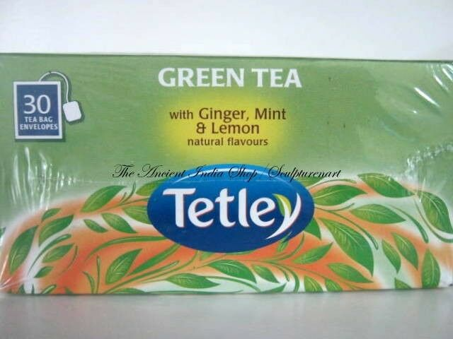 Tetley GREEN Tea with Ginger, Mint & Lemon Natural ...