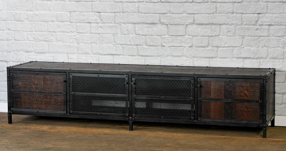 media console credenza buffet mid century modern vintage industrial rustic ebay. Black Bedroom Furniture Sets. Home Design Ideas