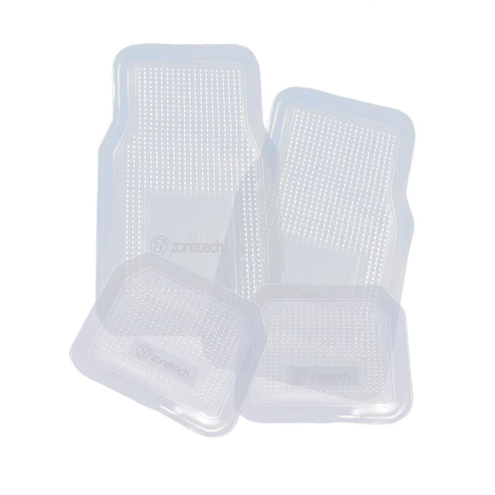 Zone Tech 4 Piece Interior Clear Car Vehicle All Weather