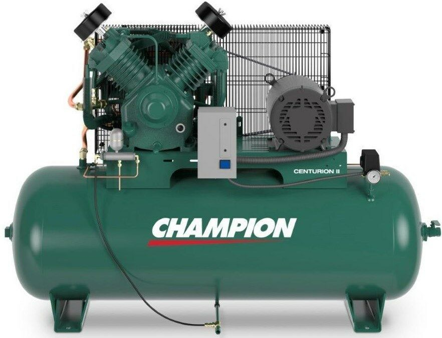 CHAMPION AIR COMPRESSOR 75 HP 2 STAGE 1 PHASE 120 GAL